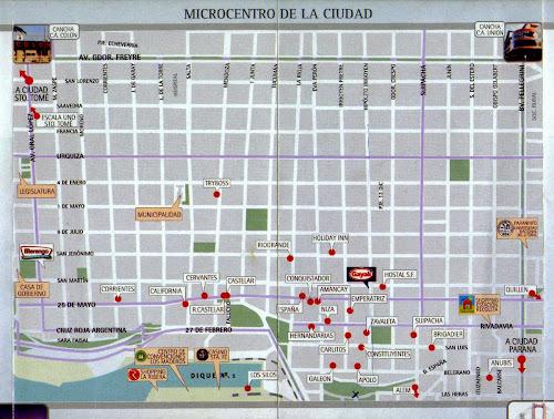 Mapa de hotéis de Santa Fé - Argentina