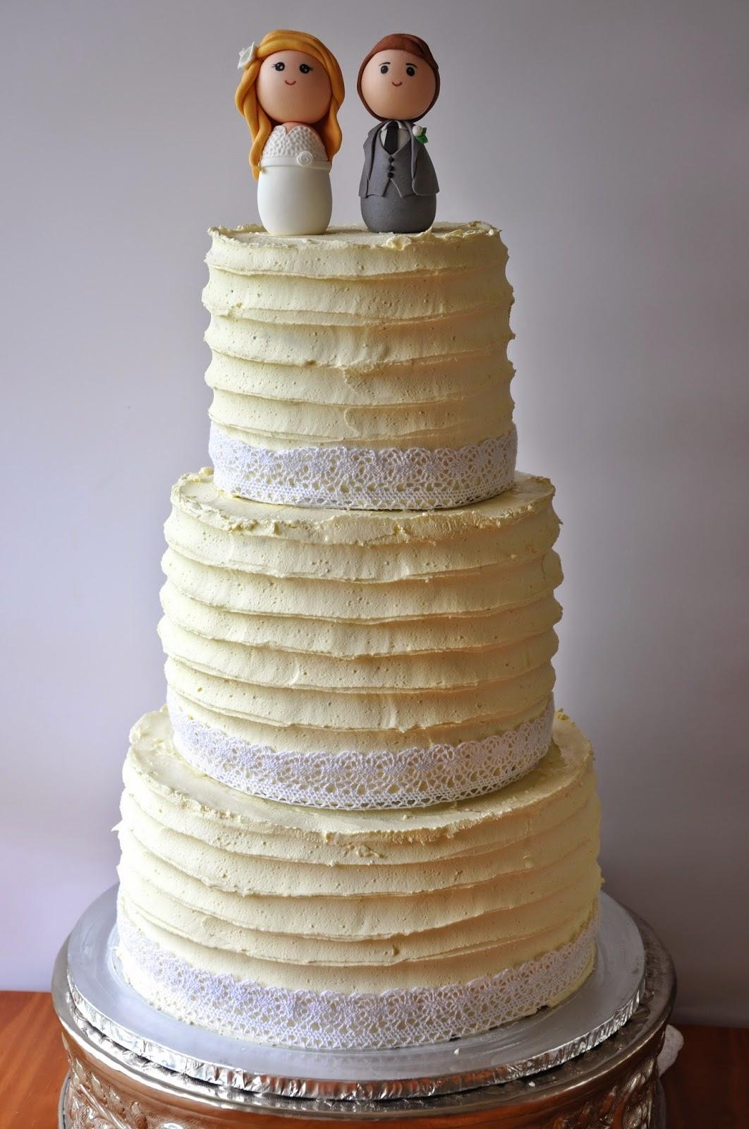 Rozanne s Cakes Three tier buttercream wedding cake
