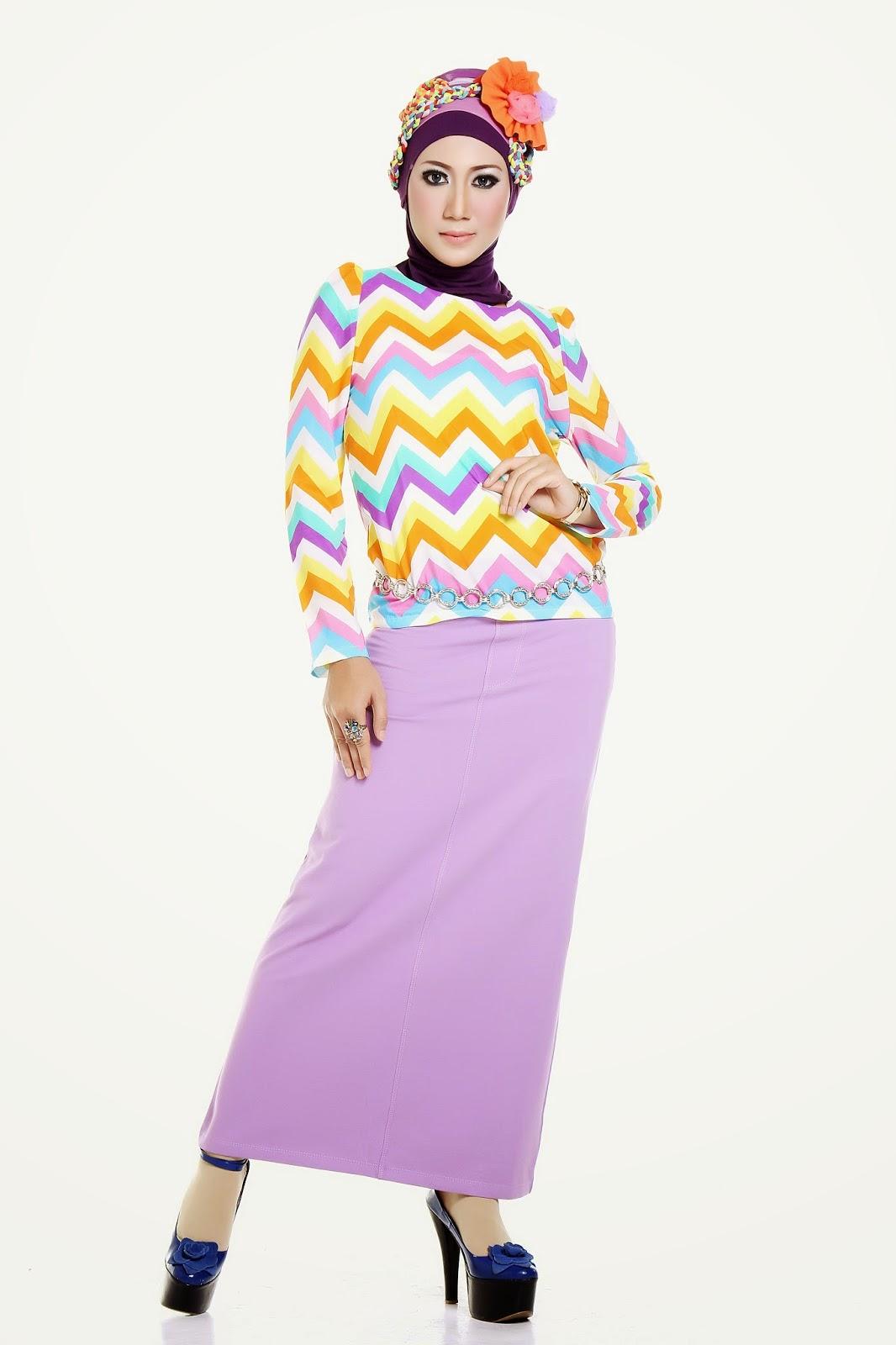 Model Rok Pensil Panjang Muslimah Terbaru 2016