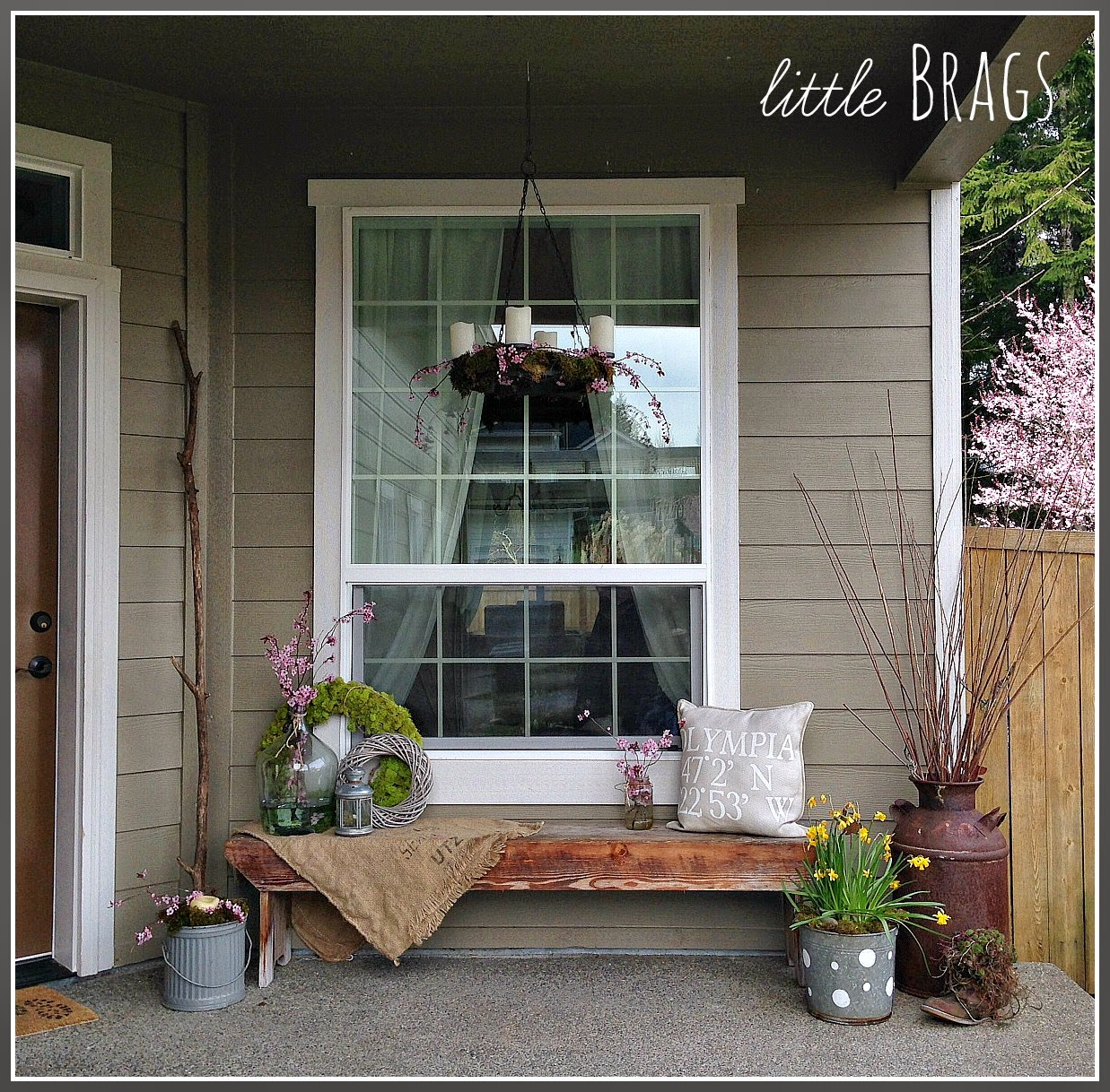 little brags an early spring porch. Black Bedroom Furniture Sets. Home Design Ideas