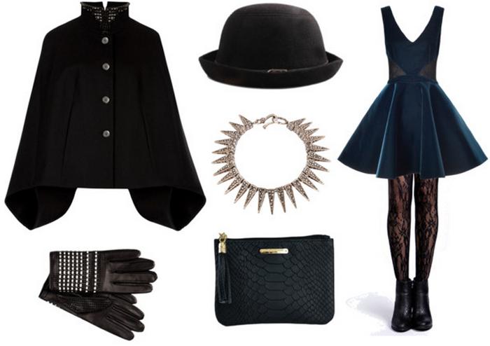 date outfit fall winter 2014 2015 blog modowy fashion zestaw na randkę koronkowe rajstopy lace