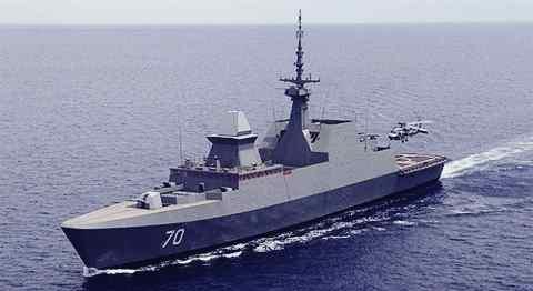 Gambar Kapal perang tangguh Formidable Class milik Singapura