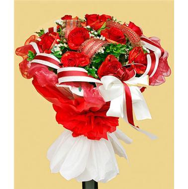Cách bó hoa hồng 14
