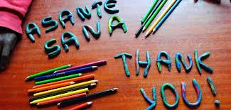 how to say thanks in swahili