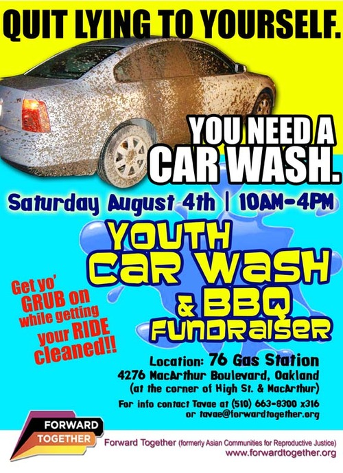 Strong families blog car wash bbq fundraiser this saturday in oakland quit lying to yourself you need a car wash solutioingenieria Image collections