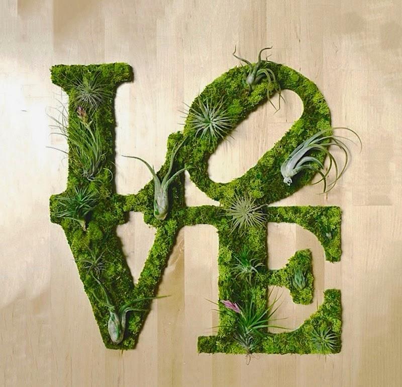 Graffitis Écologiques Fabriqués avec de la Mousse et des Plantes