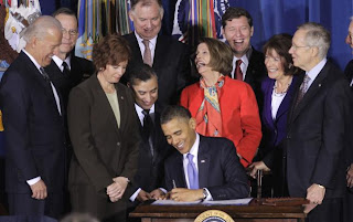 Pres. Obama signs the Don't Ask, Don't Tell Repeal Act of 2010