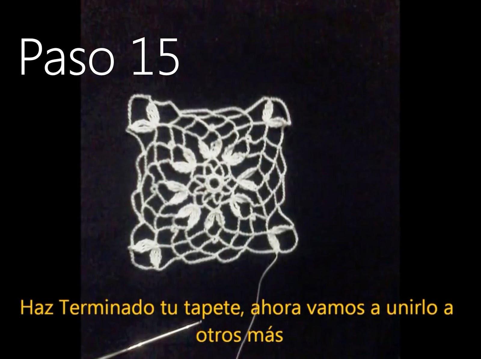 Tapete Flor Paso 15