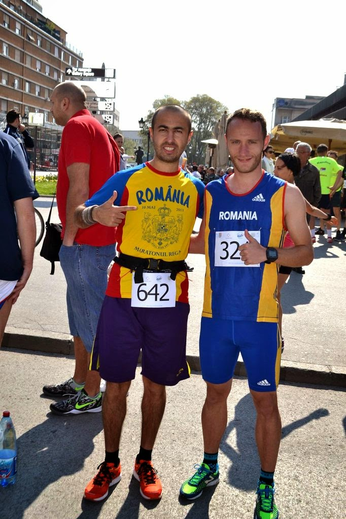Semimaraton Novi Sad 2014. Florin Chindea si Radu Milea
