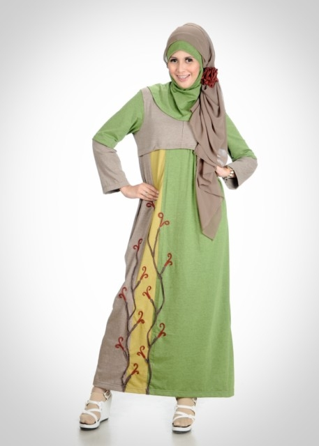5 model busana muslim gamis sifon terbaru busana muslim Jual baju gamis couple 2015