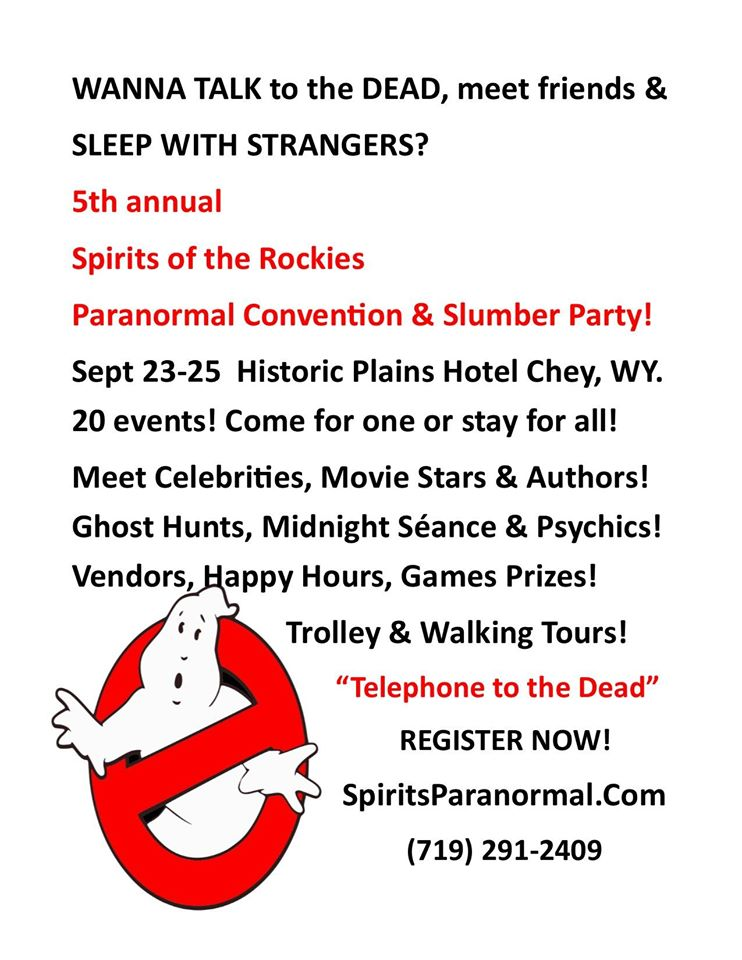 5th Annual Spirits of the Rockies Paranormal Convention