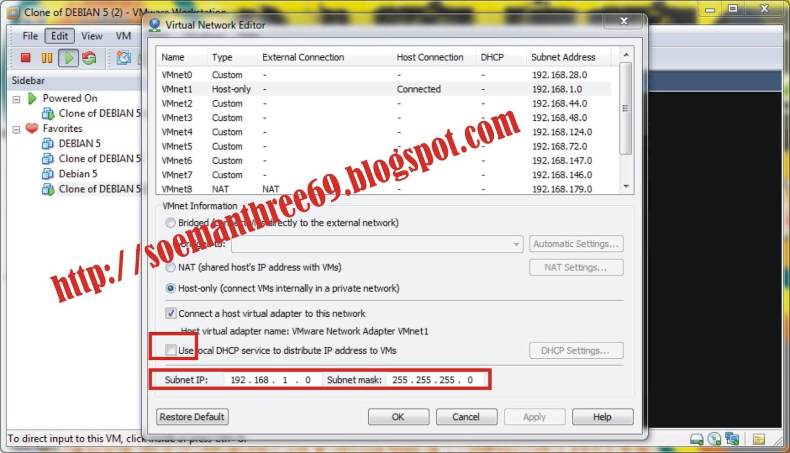 Tutorial Konfigurasi DHCP Server Debian 5 di VMware ~ All