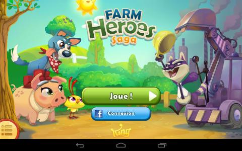 t l charger farm heroes saga jeux pour tablette android. Black Bedroom Furniture Sets. Home Design Ideas