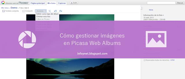 Cómo gestionar imágenes en Picasa Web Albums