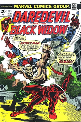 Daredevil and the Black Widow #103, Spider-Man and Ramrod.