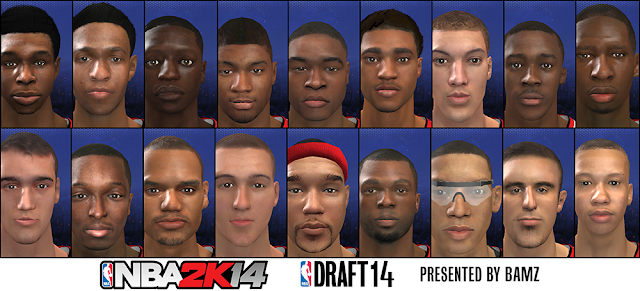 Draft Class 14 for NBA 2K14 Association Mode