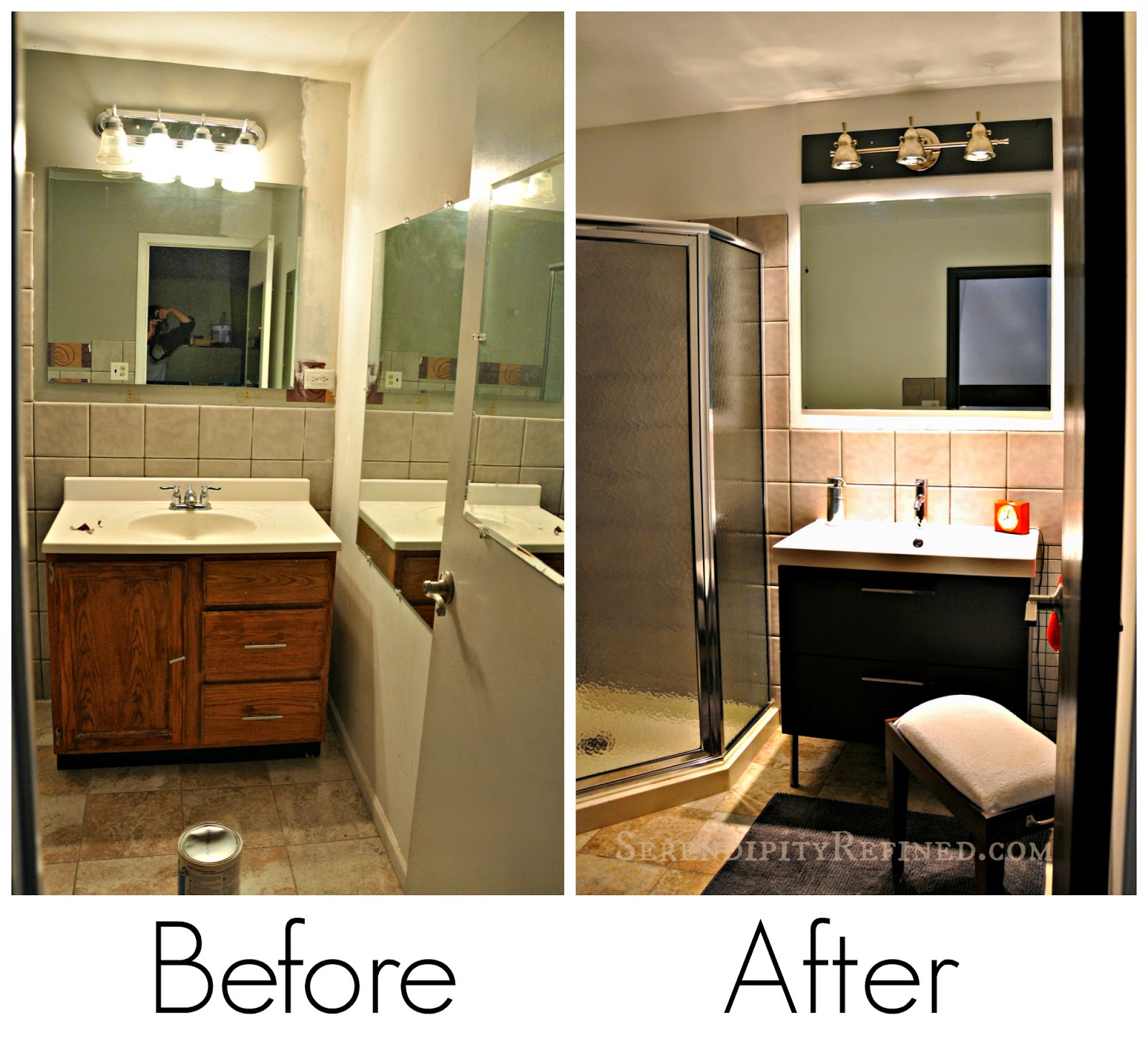 serendipity refined blog contemporary apartment small bath makeover