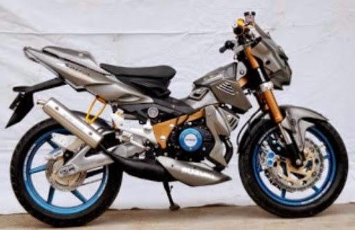 Modifikasi Suzuki Satria F150 Silver Light