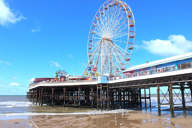 The Blackpool Central Pier And Seagulls