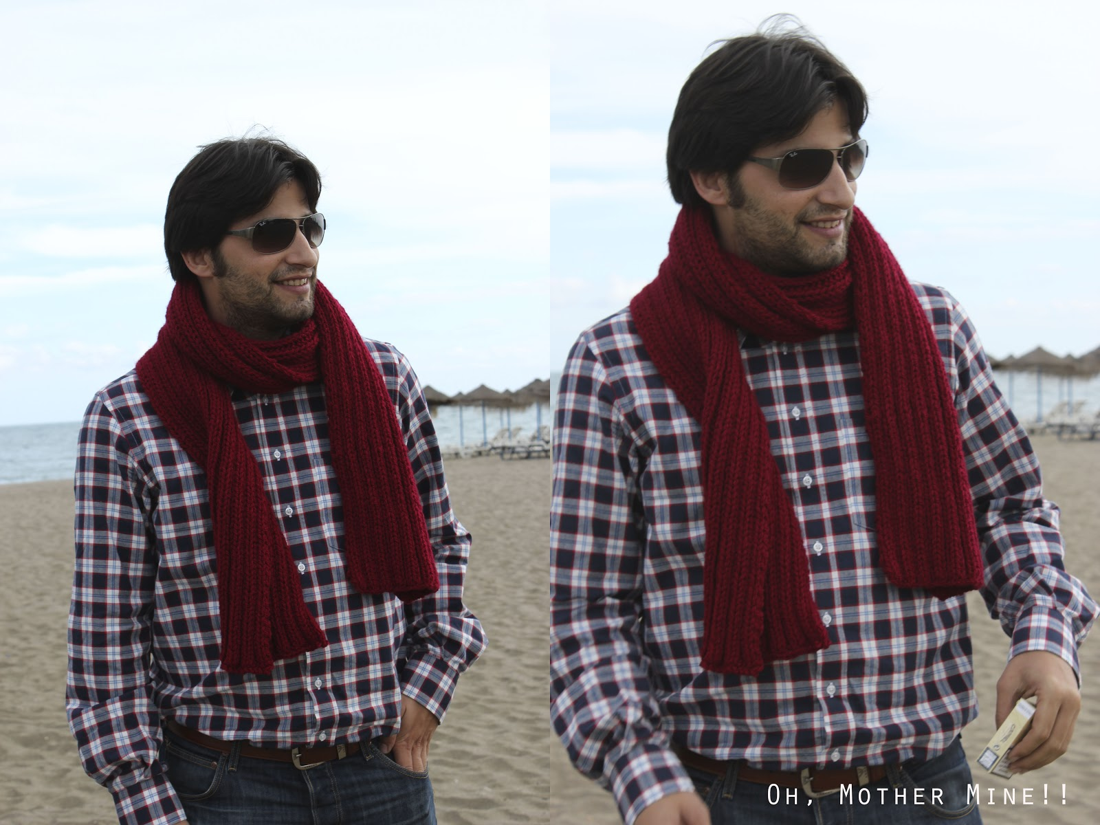 DIY Cómo hacer una bufanda para hombre     Oh, Mother Mine DIY!!