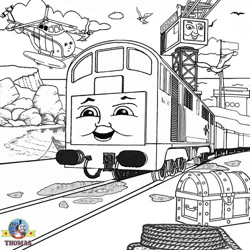Free Printable Pictures For Kids Halloween Spooky Ideas Dockyard BoCo Diesel Thomas Coloring Sheets