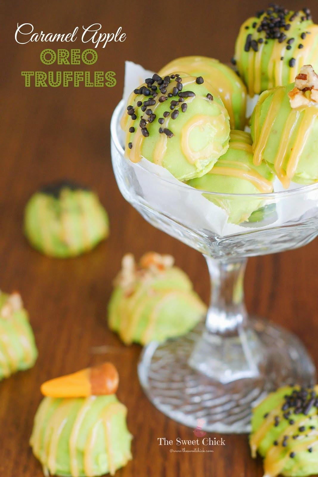 Caramel Apple Oreo Truffles by The Sweet Chick