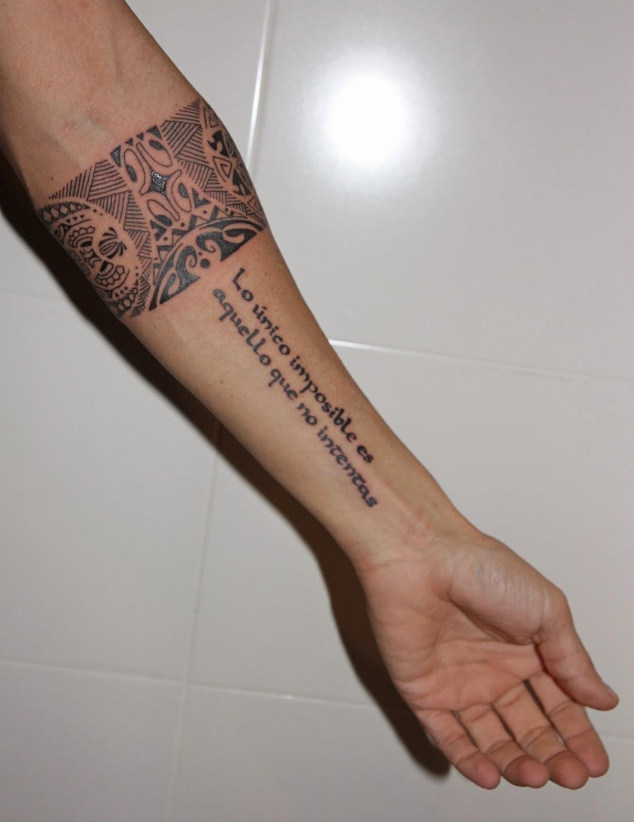 Brazalete Maori Luna Y Sol Y Frase Coral Rodriguez Tattoo