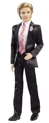 Ken Barbie Doll with tux and pink tie princess charm school