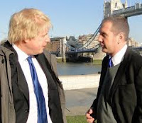 Simon Densley with Mayor Boris Johnson
