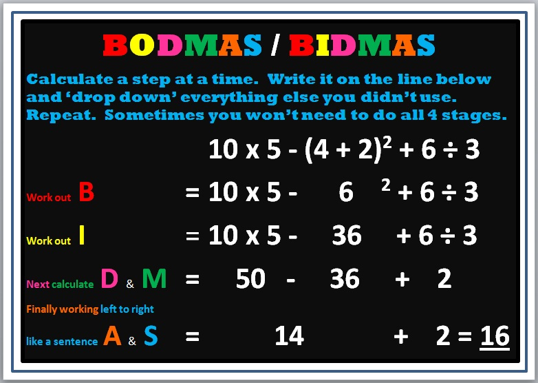 Image result for bodmas examples