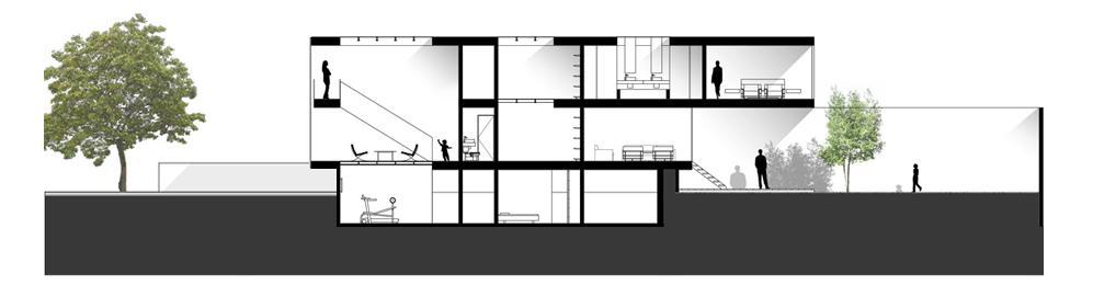 Ariana huerta pati o arquitectura secciones y alzados for Arquitectura nota de corte