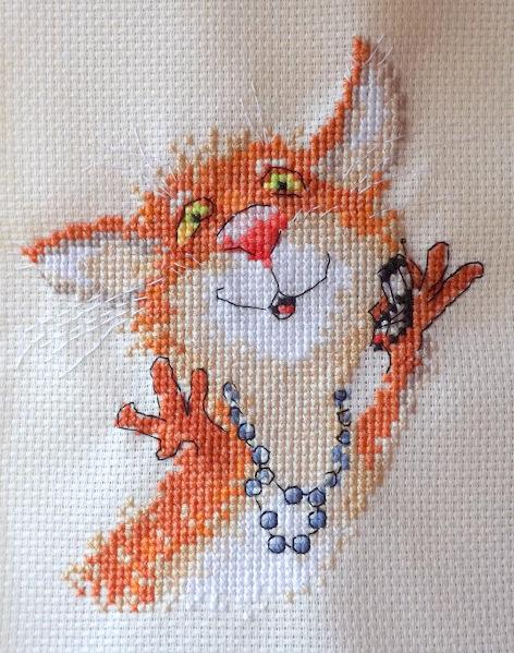 Алиса котенок вышивка 96