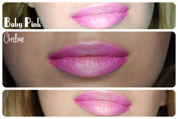 różowe usta