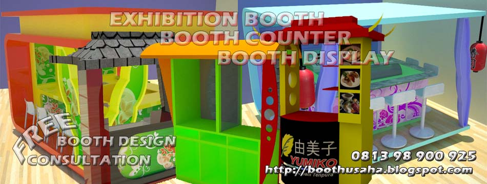 BOOTH COUNTER BOOTH FRANCHISE BOOTH MAKANAN MINUMAN