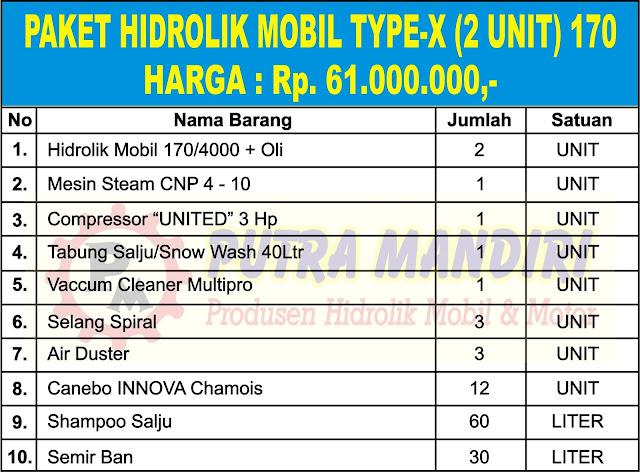 PAKET HIDROLIK MOBIL TYPE-X (2 UNIT) 170