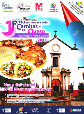Feria de las Carnitas y del Queso en Tacámbaro