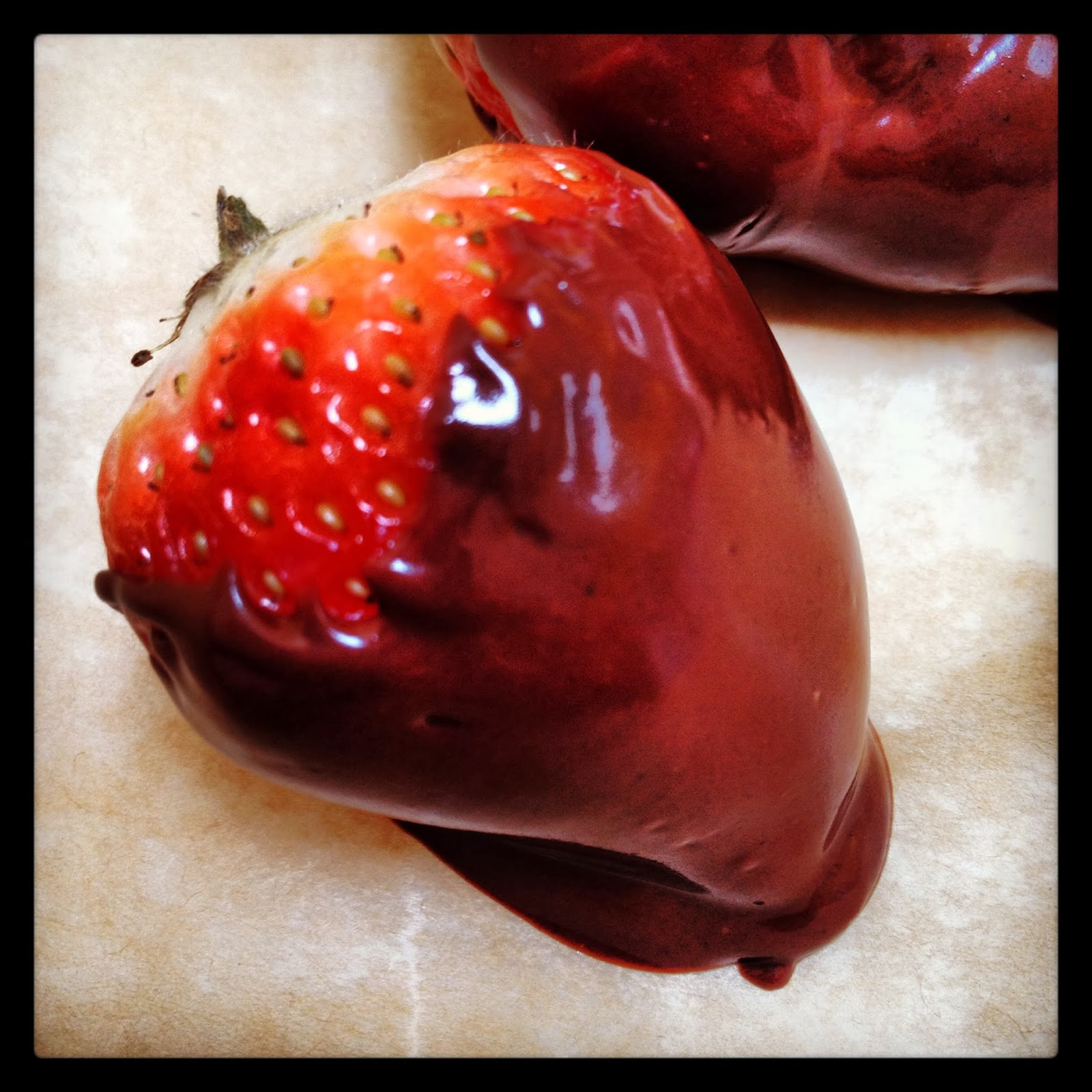 Fast, Easy Vegan Chocolate Covered Strawberry Non-dairy