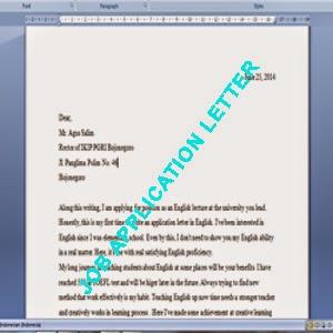 contoh surat lamaran kerja bahasa inggris,surat lamaran kerja bahasa inggris