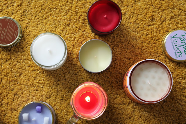 Candle Review - Crabtree & Evelyn - LilyFlame - Avon - Our own candle company - shelley louise