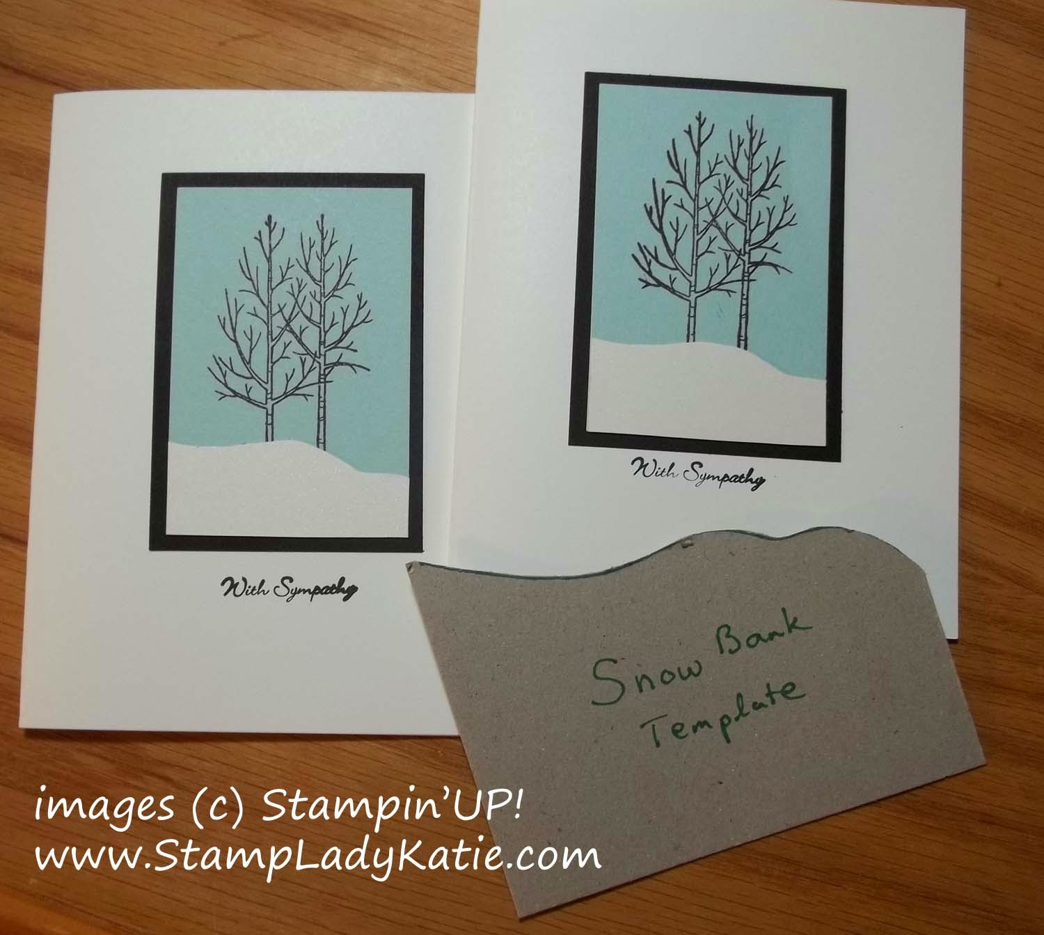 Winter Sympathy card made with Stampin'UP!'s Festival of Trees stamp set