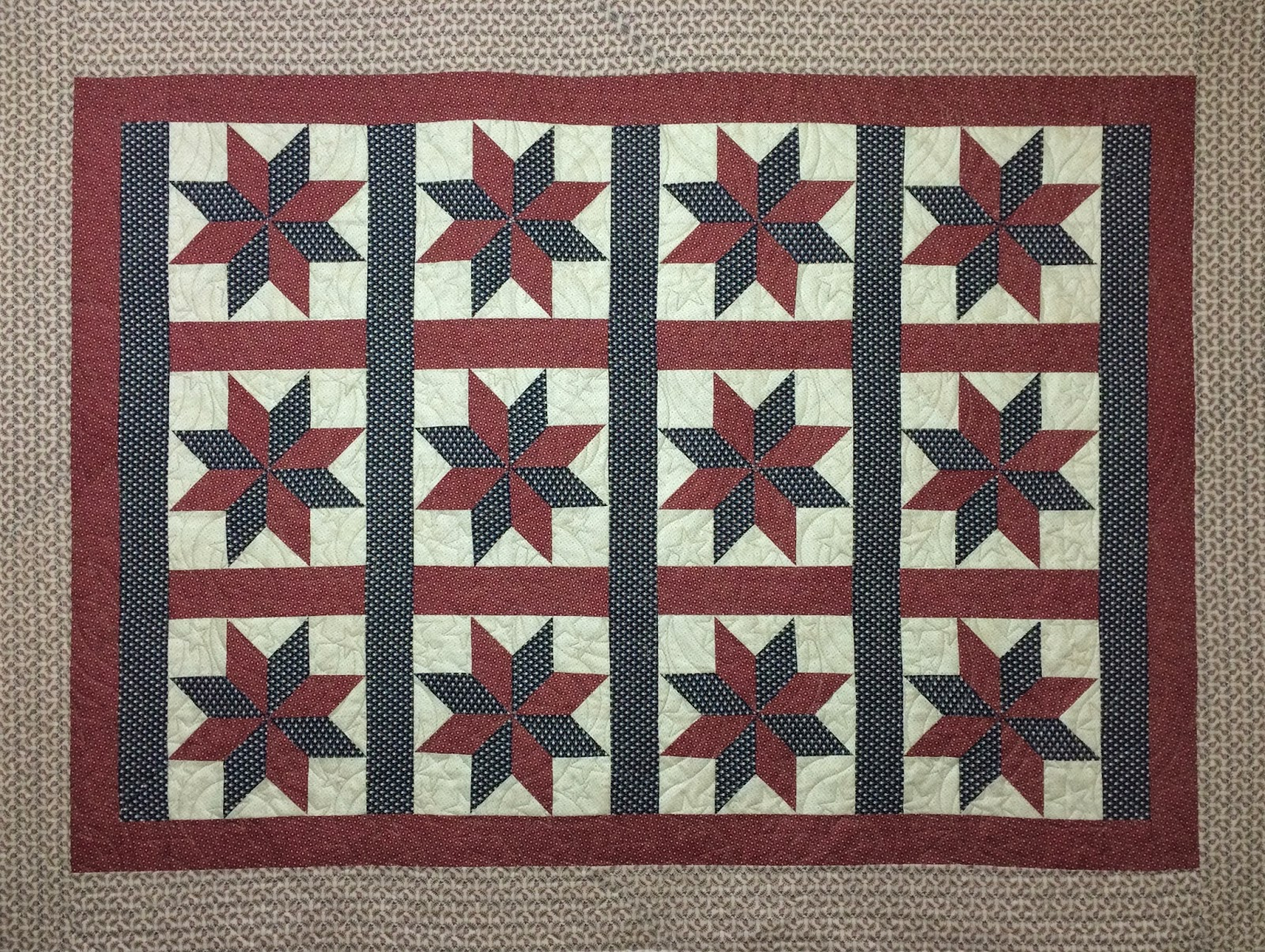 Leanne Strum Civil War Star Quilt