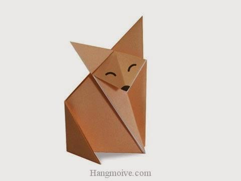 Cách gấp, xếp con Cáo bằng giấy origami - Video hướng dẫn xếp hình - How to make a Fox