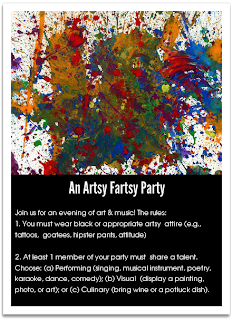 Invitation to an Artsy Fartsy Party