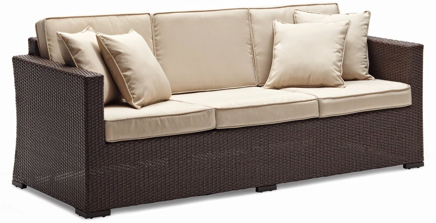 Outdoor couch outdoor wicker couch for 3 on a couch