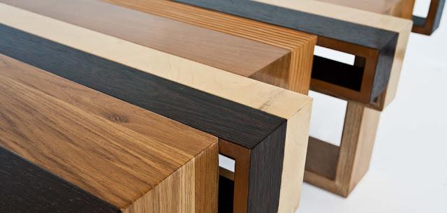 Mesas de dise o con madera reciclada espacios en madera for Formica madera