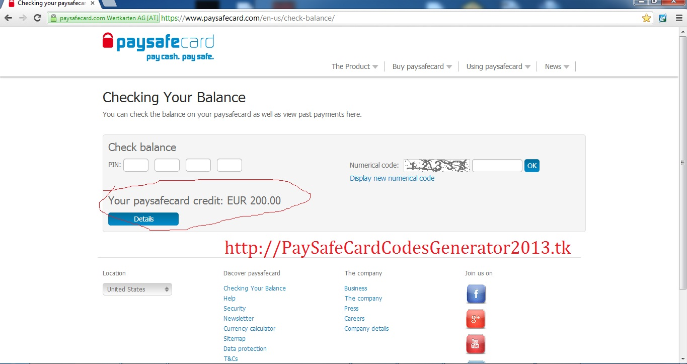 paysafecard account