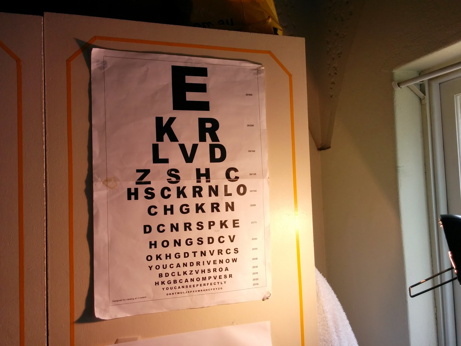 Eyefix experiment eye chart - using it to record the progress