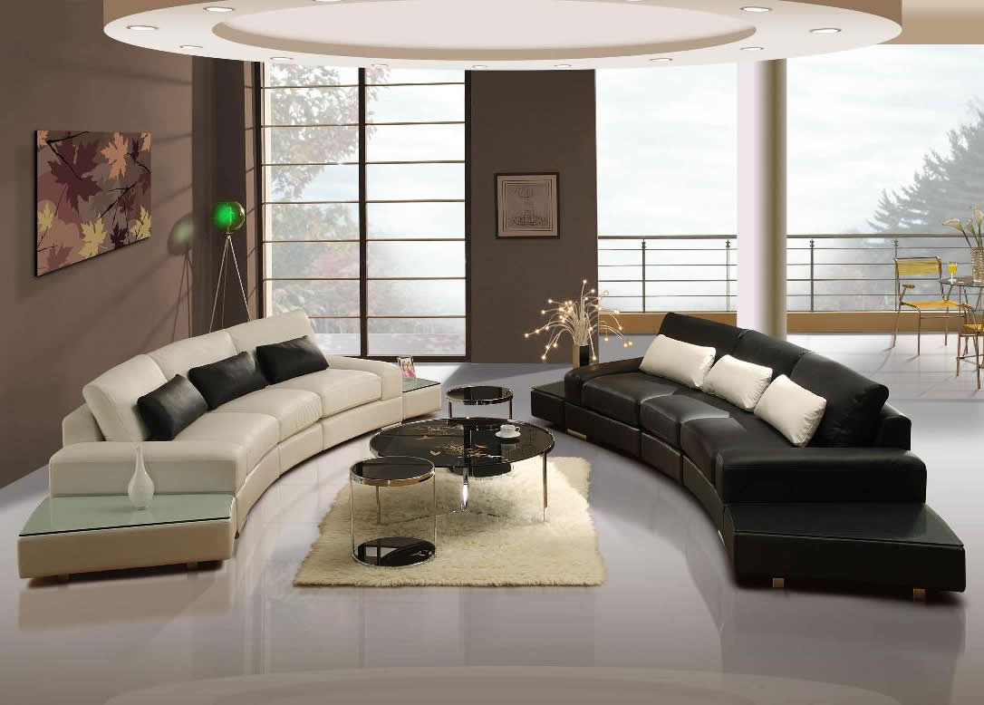 Modern Leather Living Room Furniture