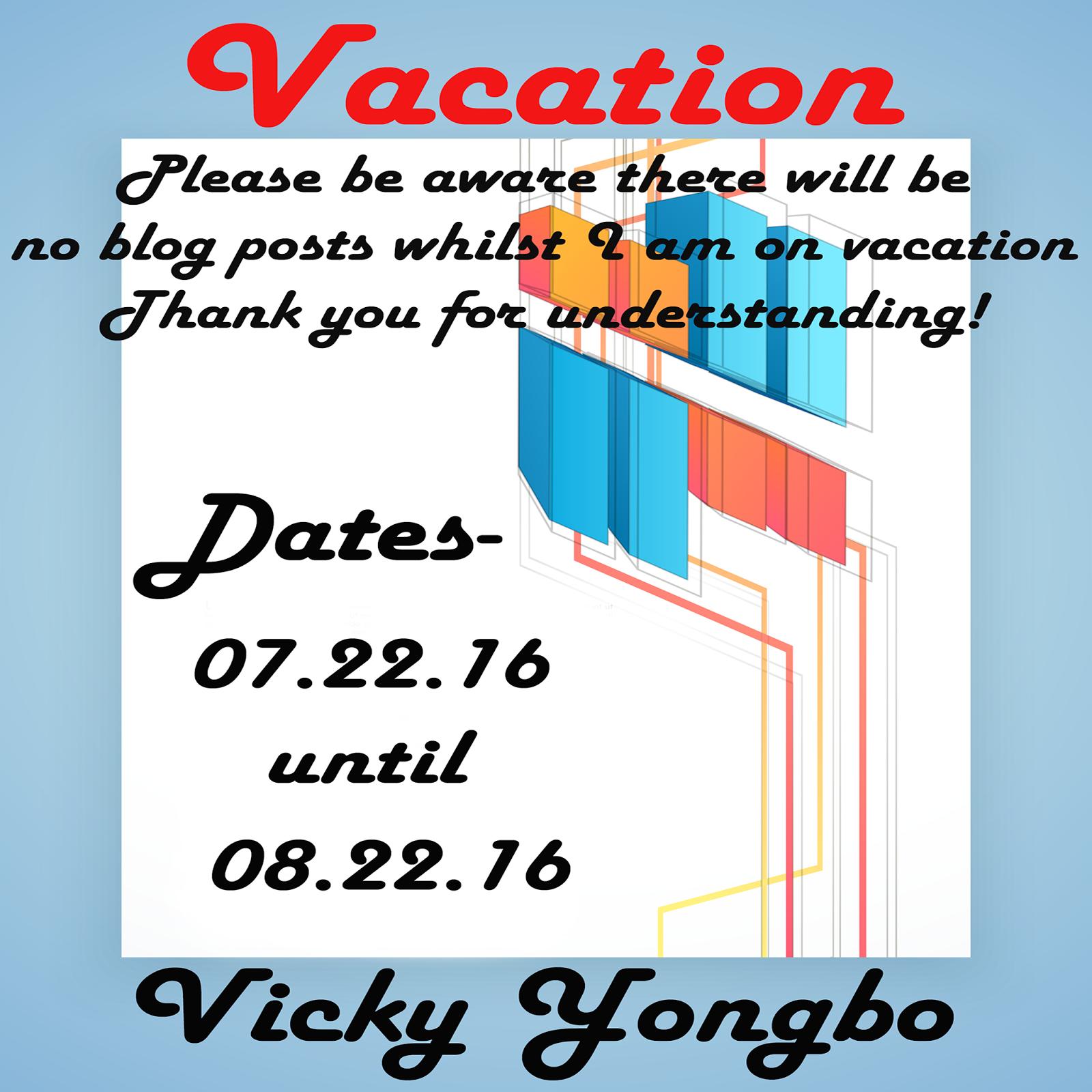Summer Vacation!