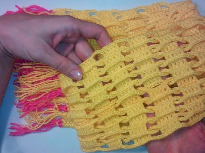 крючком мужской шарф,